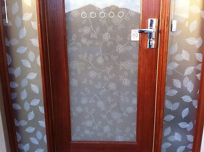 1m /m White Rose Dusted Frosted Frosting Frost Window Film 24hrs Privacy
