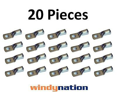 (20) 1/0 GAUGE AWG X 3/8 in TINNED COPPER LUG BATTERY CABLE CONNECTOR TERMINAL