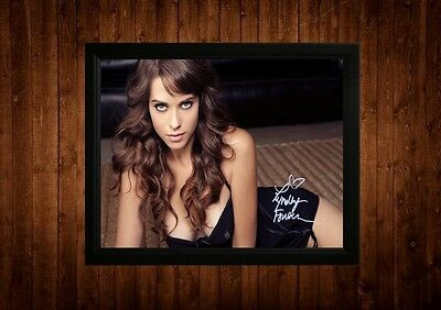 Lyndsy Fonseca Signed Framed Pp A4 Print Gift Ideas Kickass Hot Tub Time Machine