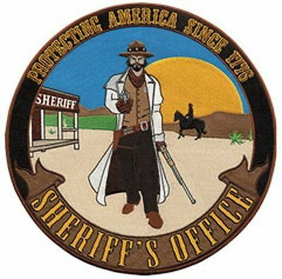 """Sheriff's office old time 12"""" Circle sew on high quality EMBLEM-Patch GIFT?"""