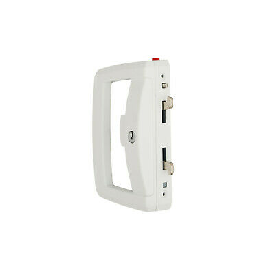 Lockwood Onyx Sliding Patio Door Lock 9A1A2/5PWHI Slim Outer Pull White