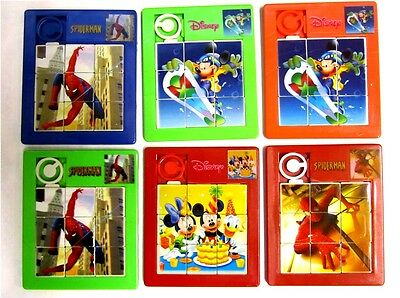 Boys Girls Kids Spiderman / Mickey Mouse / Slide Picture Puzzles / Toy / Gifts