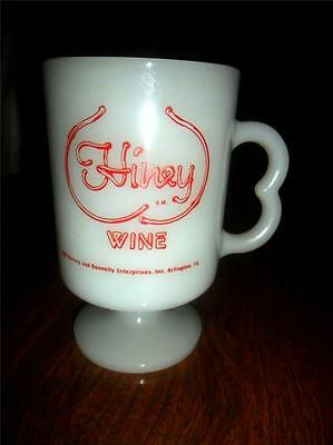 "Vintage Hiney Wine Milk Glass Coffee Mug HTF ""I'd Rather Have Some Hiney""  L3"