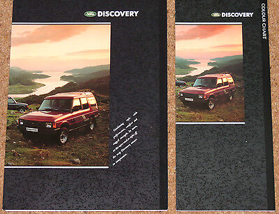 1989 LAND ROVER DISCOVERY Brochure & Colour Chart