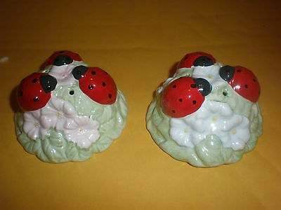 Lenox China Butterfly Meadow Ladybug Salt & Pepper Shakers New See Details