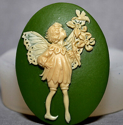 Angel Cabochon Cameo Silicone Mold Chocolate Candy Resin Clay Jewelry #3 Fairy