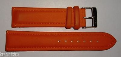 Correa Reloj 14,16 Mm Piero Magli Resina Naranja Acuatica Watch Leather Strap