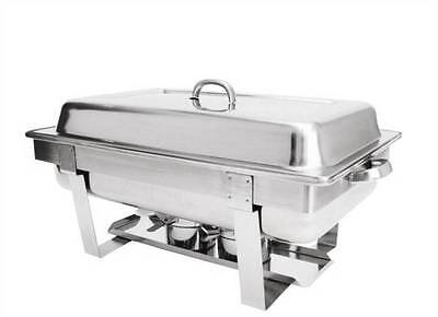 Full Size Stackable Chafing Set Stainless Steel Food Warmer Restaurant Catering