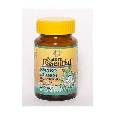 ESPINO BLANCO 500 mg 60 tabletas -  NATURE ESSENTIAL (control tensión)