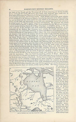 1878  Red River Colony Manitoba Selkirk Settlement vintage magazine article