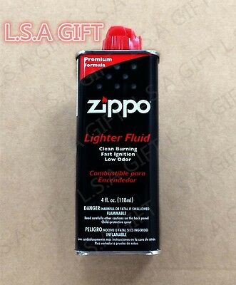 Zippo 4oz Can Fuel Fluid for All Zippo Lighters 4FC-Z