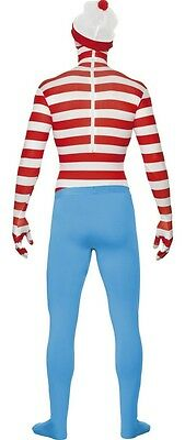 Adult Waldo Book Where's Wally? Second Skin Morph Bodysuit Jumpsuit Suit Costume