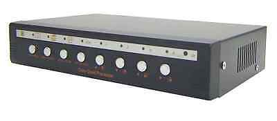 4-Channel BNC Video to VGA Converter Camera Switch With Quad PIP Screen Support