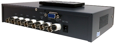 4-Channel Picture-In-Picture Processor BNC Video to VGA Converter Switch