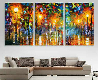 3 pieces Large Modern hand-painted Art Oil Painting Wall Decor canvas(NO frame)