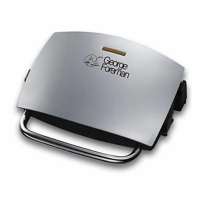 George Foreman 14181 Silver Family 4 Portion Fat Reducing Grill and Melt
