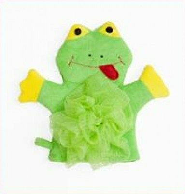 Mommy's Helper Froggy Frog Puppet Bath Mitt with Loofah for Baby Bath NEW