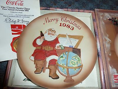 Coca-Cola First Annual Collector Plate 1983 - Original Box & Papers