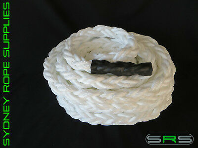 40Mm X 12Mtr Battling/Fitness/Power/Gym/Tug Of War Rope, Free Shipping