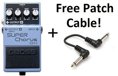 New Boss CH-1 Super Chorus Pedal! FREE Patch Cable!