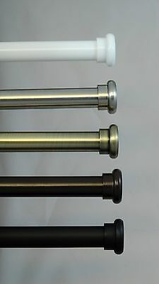"Urbanest Classic Forged Iron Button Window Drapery Curtain Rod Set 3/4"" Diameter"