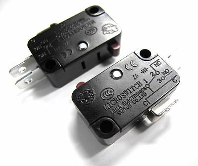 5x Micro Limit Switch Momentary ON/(OFF) N/C 15A 250 VAC Switch L38D1
