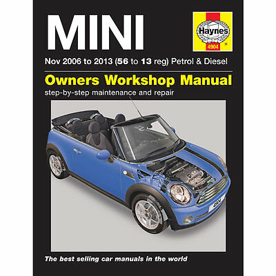 Mini 1.4 1.6 Petrol 1.6 2.0 Diesel Nov 06-13 Haynes Workshop Manual