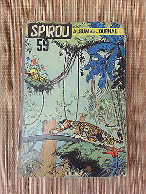 Ancienne BD spirou album n° 59, collection bd