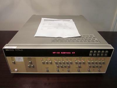 Agilent HP 8133A 33 MHz - 3 GHz Pulse / Timing Generator w/ Opt 002 - CALIBRATED