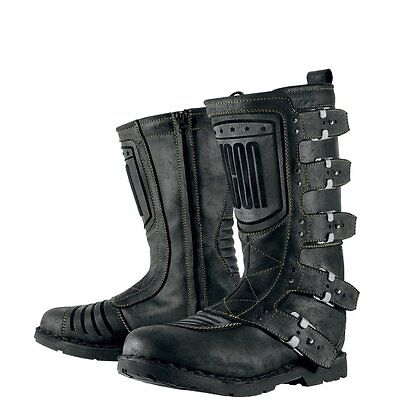 *Fast Shipping* ICON 1000 Elsinore (Johnny Black) Motorcycle Boots