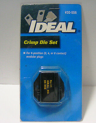 IDEAL  30-556 Crimp Die Set, RJ-11, for 6-position (2, 4, or 6 contact ) modular