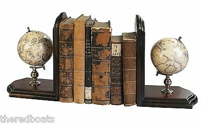 Globe Bookends, French Finish - GL009F