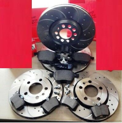 Audi Tt 1.8T Quattro 225 Hp Front Rear Brembo Drilled Grooved Brake Discs Pads