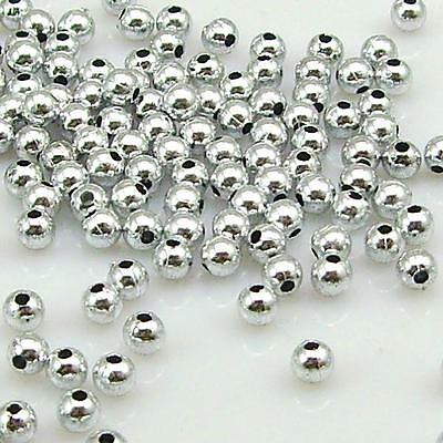 silver Plated Round Ball Spacer Beads Acryl Beads jewelry findings 3 mm--6 mm