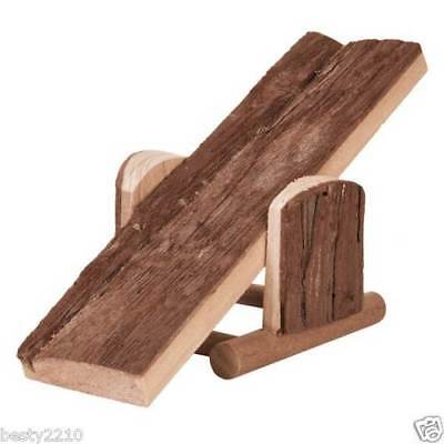 Natural wood see saw seesaw cage toy, 2 sizes , Hamster Rabbit Mice guinea pigs