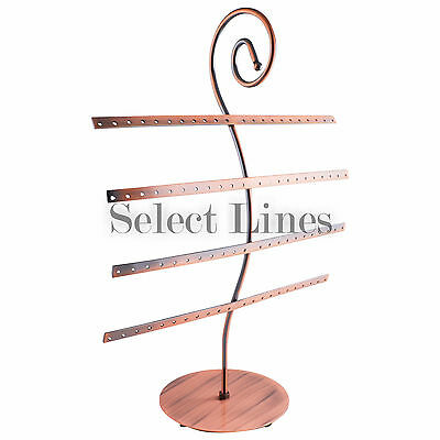 Copper Metal Wire 40 Pair Earring Countertop Jewelry Display