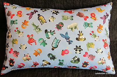 Blue & Bright Colours Knitted Soft Toy Animals Childrens Boys Cushion Cover