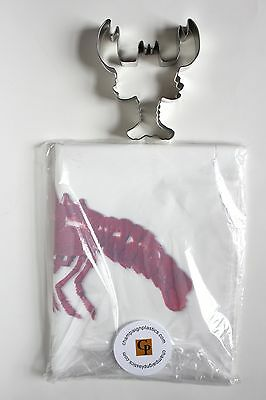 Set Of 25 Lobster Bibs And 1 Metal Lobster Cookie Cutter Free Shipping