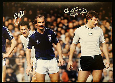 Leighton James And Alan Curtis Duel Signed Swansea 12x16 Photograph