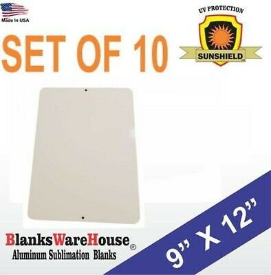 """10 Peices PARKING SIGN  ALUMINUM  SUBLIMATION BLANKS 9""""x12"""" / NEW with holes"""