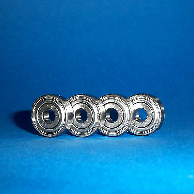 4 Kugellager 608 ZZ SKF / 8 x 22 x 7 mm