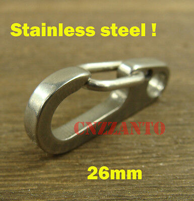 Deep polishing Stainless steel Quick link Carabiner Spring Snap Hook Clip 26mm