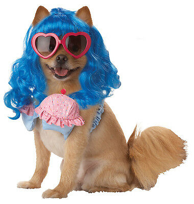 Cupcake Girl Katy Perry Pop Star Cute Dress Up Halloween Pet Dog Cat Costume