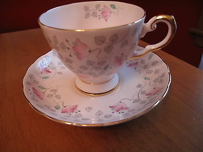Pink Floral  Teacup & Saucer - Tuscan Made In England
