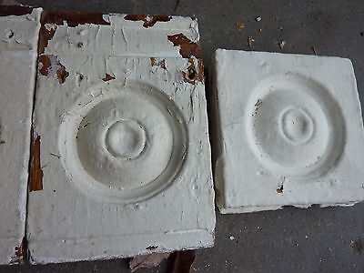 "lot of 4 victorian corner BASE molding PLINTH blocks 7.5 & 5"" h x 5"" w x 1 3/16"""