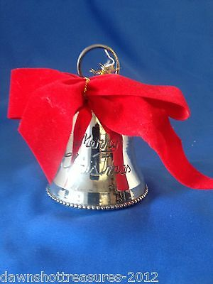 """""""Merry Christmas"""" Bell Silver  plated"""