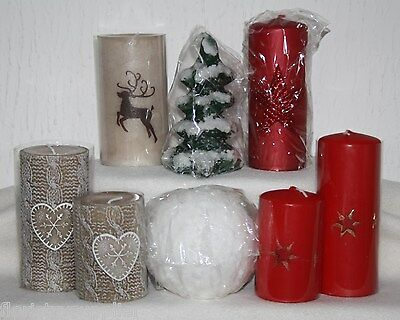 luxury Christmas candles red white snowball christmas tree reindeer designs