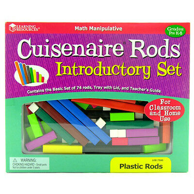 Learning Resources - 74 Piece Cuisenaire introductory plastic Rods set and tray