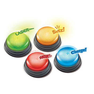Learning Resources - Lights and Sounds Answer Buzzers, Set of 4 Game show style