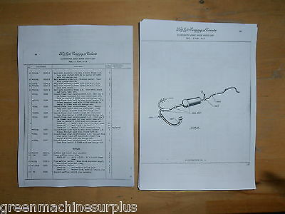 "Ford.F60L.3 ton.4x4. Illustrated parts list. CMP. 158 1/4"" w.b."